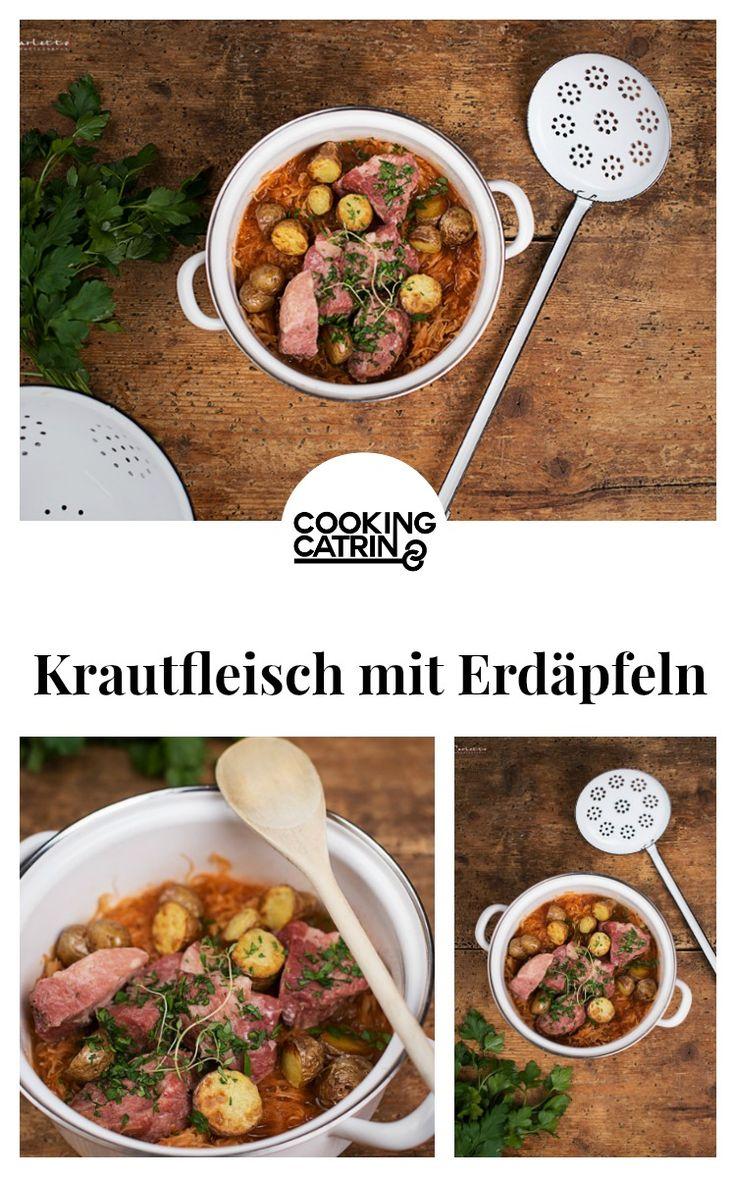 Krautfleisch, Ofenerdäpfel, Traditionsrezept, Traditionsgericht, Rezept aus Österreich, austrian recipe, deftig, traditions, traditional recipe, meat recipe, oven potatoes...http://www.cookingcatrin.at/krautfleisch-mit-ofenerdaepfeln/