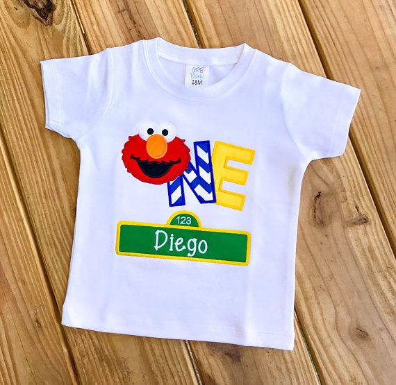 Elmo First Birthday Shirt