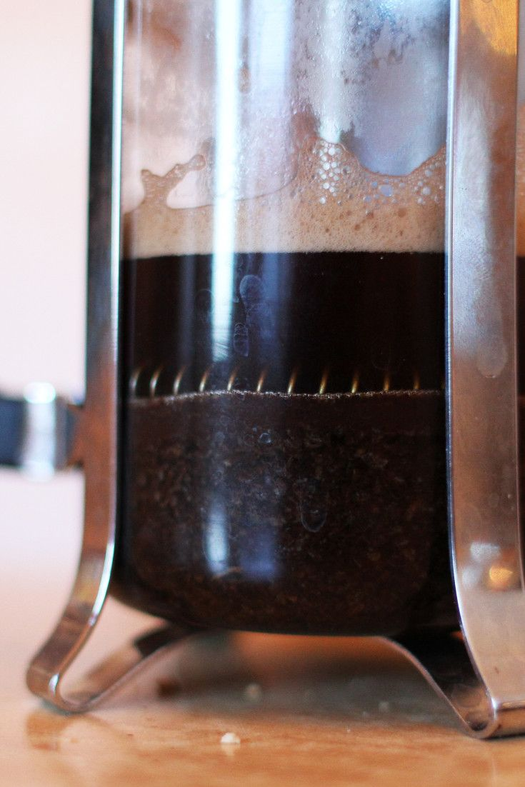 How To Make Cold Brew Coffee With Your French Press, Because You Can! Close up, Coffee maker ...