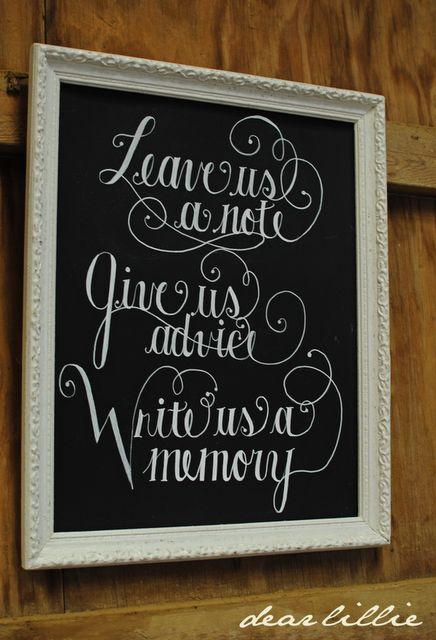 nice idea for a wedding ~ from Dear Lillie: A Few Pictures from Quinn and Lindsey's Wedding