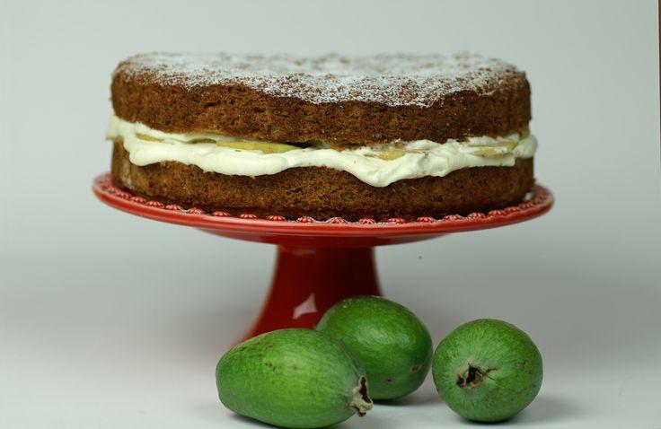 Fab feijoa cake  http://www.bite.co.nz/recipe/7999/Fab-feijoa-cake/?ref=bitesocial
