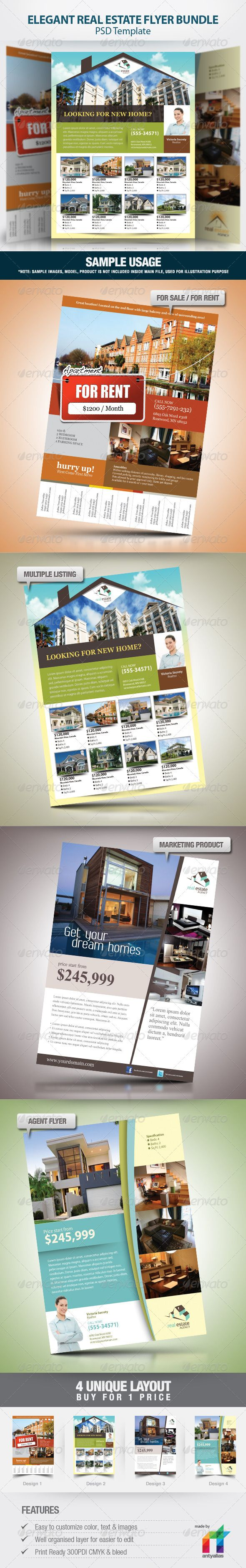 1000 images about real estate ads corporate elegant real estate flyer set