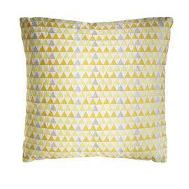 Coussin Fablana à triangles Jaune 50 x 50 cm
