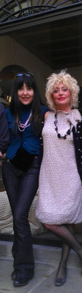 Marzia Bettoli con Serenella Messina
