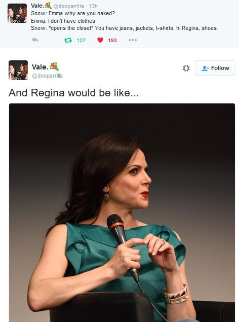 Haha omg I love this... | Swan Queen | Swen | Once upon a time | OUAT | Emma Swan | Regina Mills | Snow White