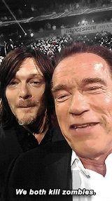 Norman Reedus e Arnold Schwarzenegger - CMT Music Awards (14/ 06/2015)