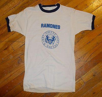 RaRe-1978-THE-RAMONES-vintage-nyc-punk-rock-concert-t-shirt-S-70s-80s-MINT