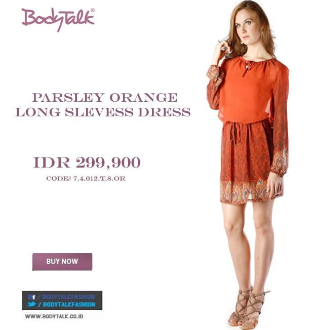 Love Orange, this Dress will fit you Ladies IDR 299,900 >> http://ow.ly/vKlDt