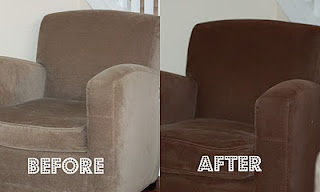 Repainting Upholstery - not kidding. Simply Spray is apparently the real deal!