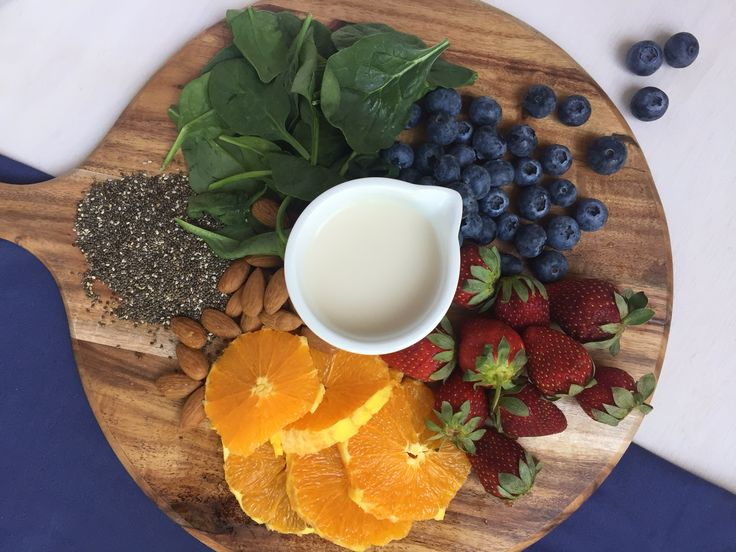 Blue Coconut Smoothie Blueberries and coconut milk – what a delicious combo.     Throw in some chai seeds and vanilla and you have a winning combo! #blueberry #vanilla #smoothie #chiaseeds #healthy