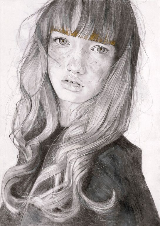 "Saatchi Online Artist: Adrien Patout; Pencil, 2013, Drawing ""Amberley"":"