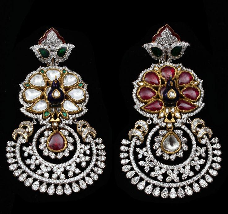 Peacock Plumage Earrings