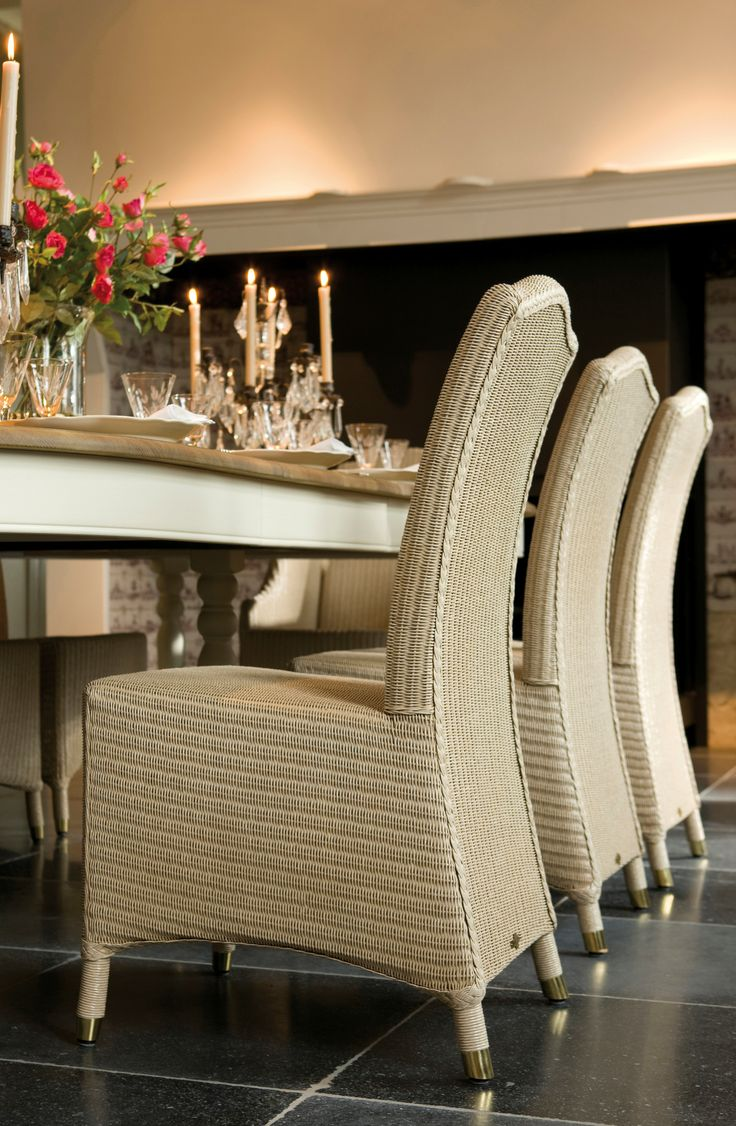 Lloyd loom Dining chair / Conservatory chair. Home style ideas and design inspiration #meyerandmarsh #diningchair #lloydloom #lloydloomdiningchair