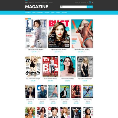 Magazines Store Bootstrap OpenCart Template