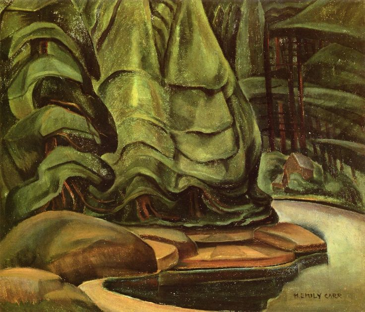 South Bay, Skidegate (oil on canvas) 1929-1930, Emily Carr