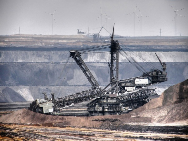 Bagger 288 Bucket-Wheel Excavator, built by Krupp of Germany.  Over 700 feet long and 300 feet high, it was built in 1978 to work Germanys coal mines, and is actually part of a family of similar colossi. For the most part, the Bagger stays where it is: it moves at a literal crawl at 30 feet a minute at most, and requires an external generator cranking out nearly 17 megawatts just to operate. Worlds largest tracked vehicle