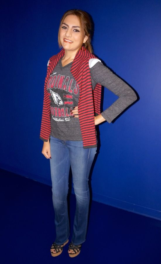 Cute Looks for Sporting Events « Mom Style Lab @trinaturk @amyinc #ALC #motherdenim #joie #ootd #fashion #style #superbowl #phoenixopen #arizonamidday #channel12