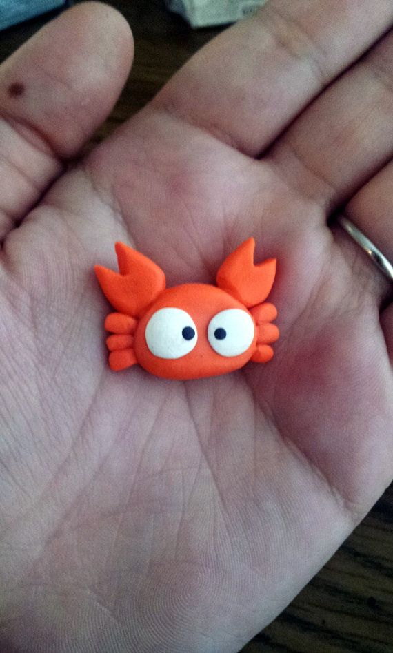 totoro mei CRAB polymer clay charm by TreeTopFox on Etsy, $5.00