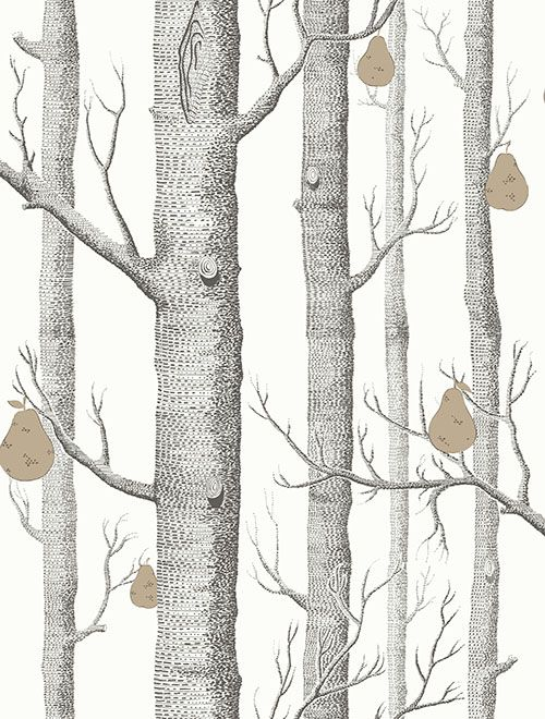 Woods and Pears Black & White wallpaper by Cole & Son