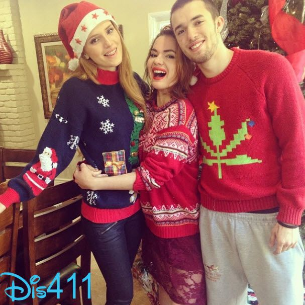 Bella Thorne with Remy and Kaili Thorne