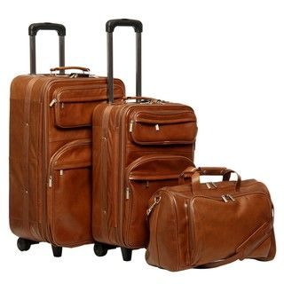 @Overstock - Make a statement when you travel with this handsome, fully lined, durable leather luggage set. This 3-piece set includes two vertical Pullmans and one boarding tote bag.   http://www.overstock.com/Luggage-Bags/Amerileather-Brown-Leather-3-piece-Traveler-Set/741007/product.html?CID=214117 $289.99