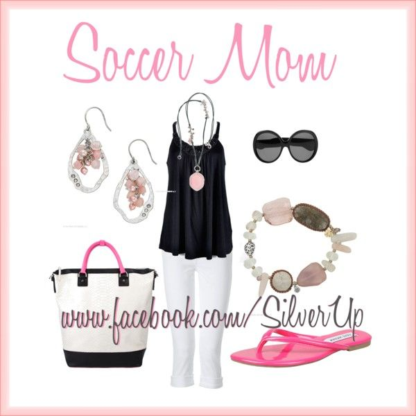 Soccer Mom? That is one fancy soccer mom outfit.