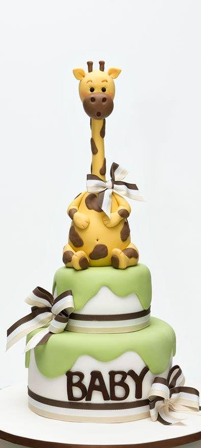 Giraffe Baby Shower Cake
