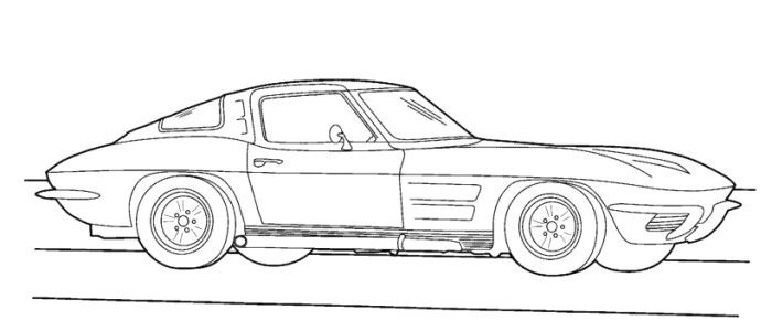 corvette 1983 coloring page - Stingray Coloring Pages Printable