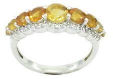 Citrine 925 Sterling Silver Ring inviting Yellow gemstones AU gift