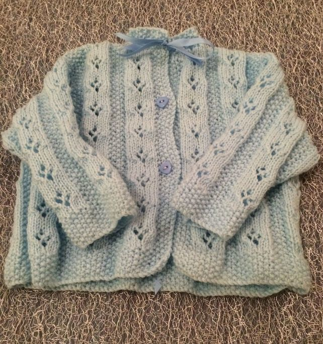Knitted Baby Cardigan  £10.00