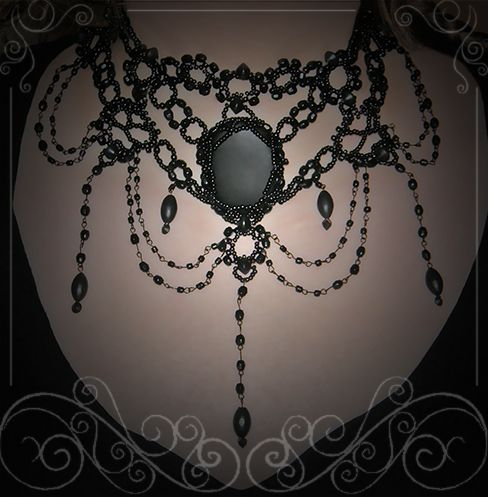 gothic black vintage co victorian devilnight necklace uk