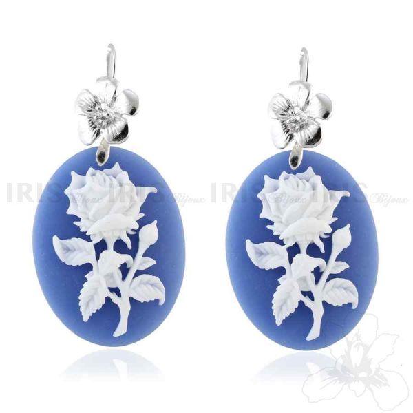 GRAND TRIANON - Orecchini Gioielli di Iris Bijoux Shop Online: www.irisbijoux.com #jewellry #earrings #cameo