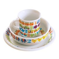 "The cult brand byGraziela from the early 70s is finally back!    ""1,2,3"" is one of the many great designs from byGraziela.     One piece out of a fantastic collection is the childrens tableware.   A set of: plate,bowl and cup"