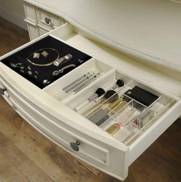 DIY Makeup/Brush organization to keep everything off the dresser/counter