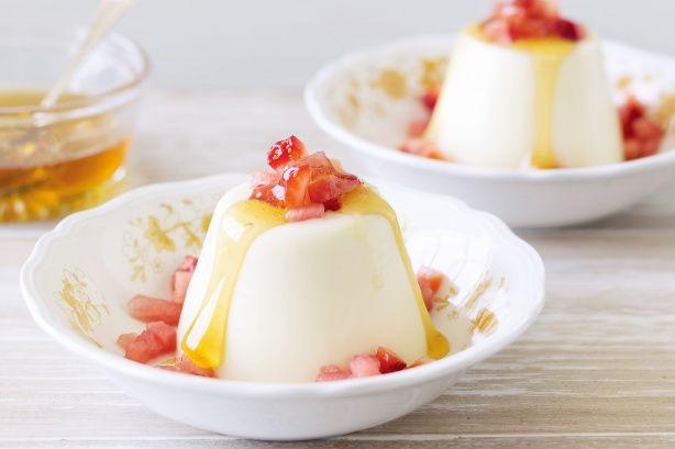 Yoghurt Panna Cotta With Watermelon And Rosewater Recipe - Taste.com.au