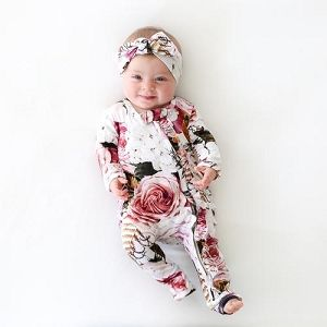 Newborn Girl Coming Home Outfit Romper Set  Infant Baby Girl 3m  Headband  Lace Mint Black White Stripes