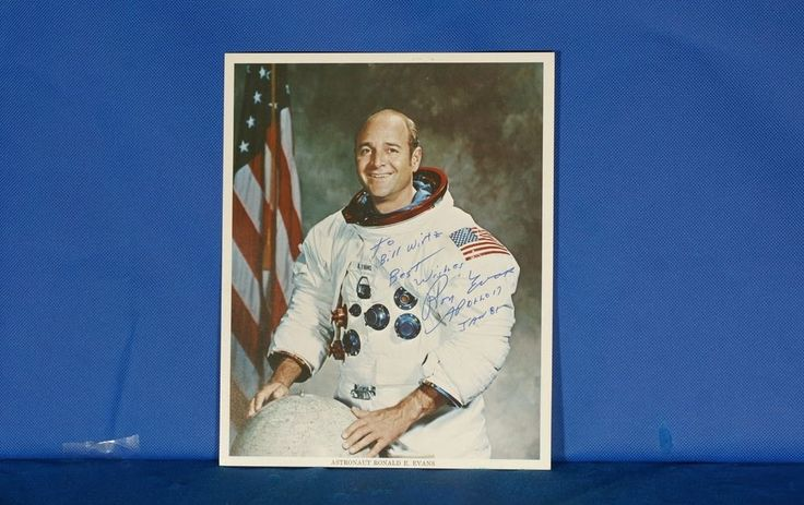NASA Ron Evans Signed 8x10 Photo