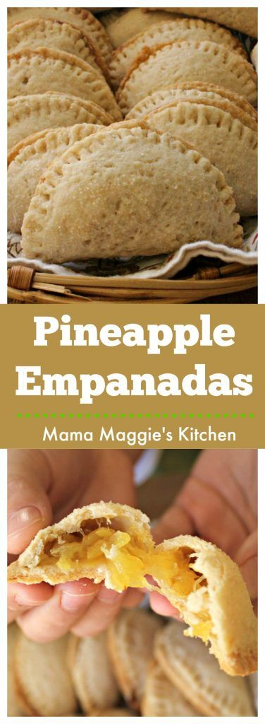 This recipe for Pineapple Empanadas, or Empanadas de Piña, is a keeper. These yummy and vegan empanadas are sweet and slightly tart. They make a great dessert for everyone in the family. by Mama Maggie's Kitchen via @maggieunz