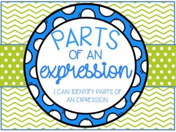 Parts Of An Expressions Lesson Bundle Classroom Ideas Pinterest