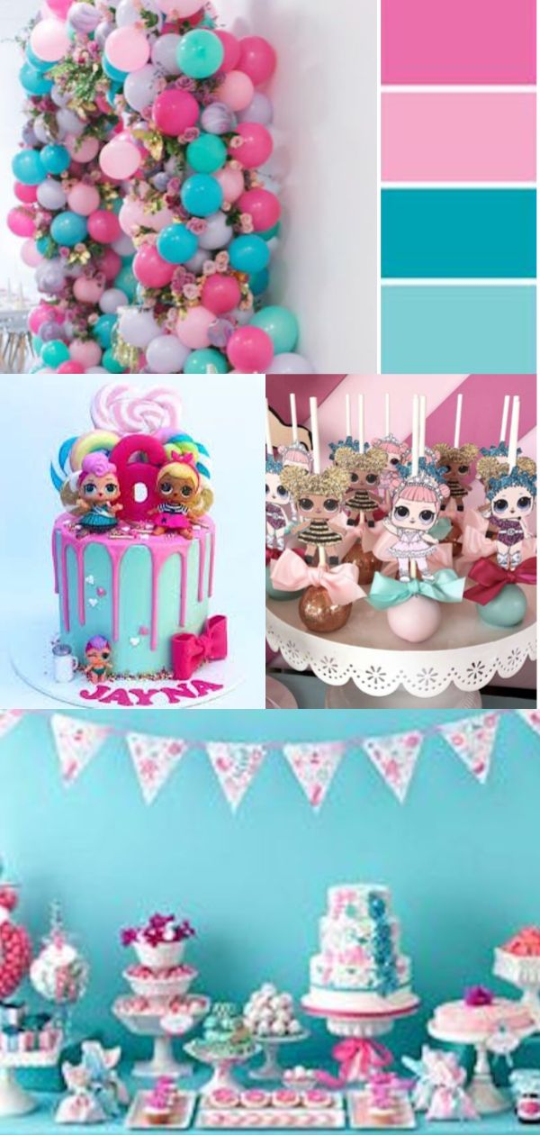 Inspirational mood board for a girls LOL Surprise birthday party. Styling inspir… – Palinas B-Day