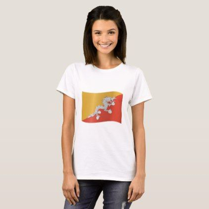 #Bhutan Flag T-Shirt - #country gifts style diy gift ideas