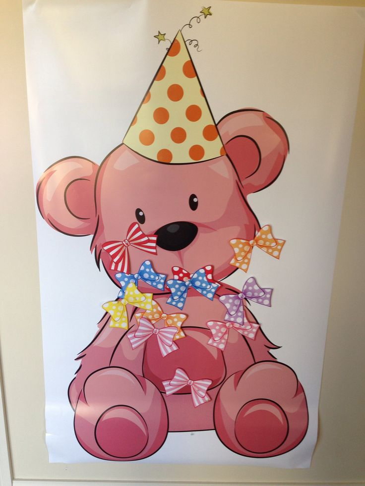 Pin the bow on Teddy