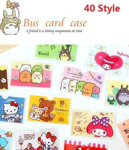 10 teile/los Cartoon Japan Totoro & Kaninchen KT serie bus karte fall schüler visitenkarte kreditkarteninhaber verschiedenen stil