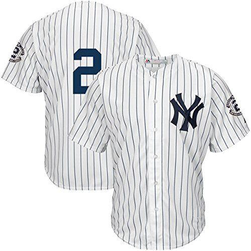 Cheap Baseball Jersey Men Derek Jeter 2 White Home Jersey Only 2 Cool Base Jersey Father day sale
