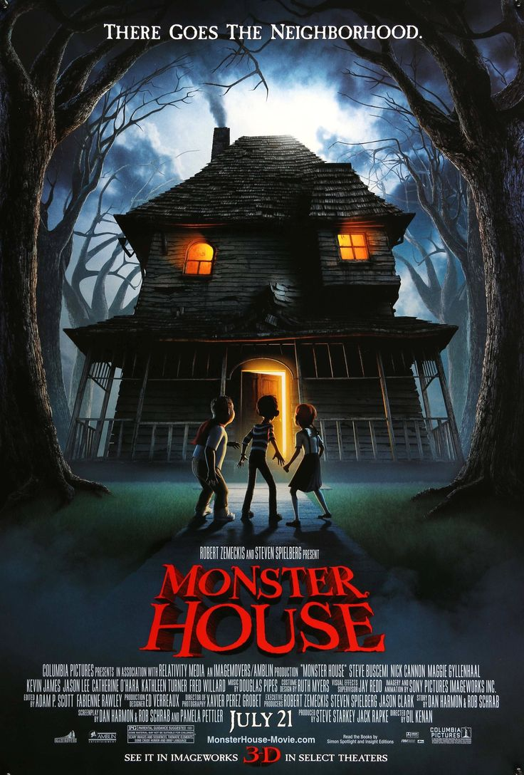 "Film: Monster House (2006) Year poster printed: 2006 Country: USA Size: 27""x 40"" Artist: Keu Cha This is a vintage, advance one-sheet movie poster from 2006 for Monster House featuring the voices of S More"