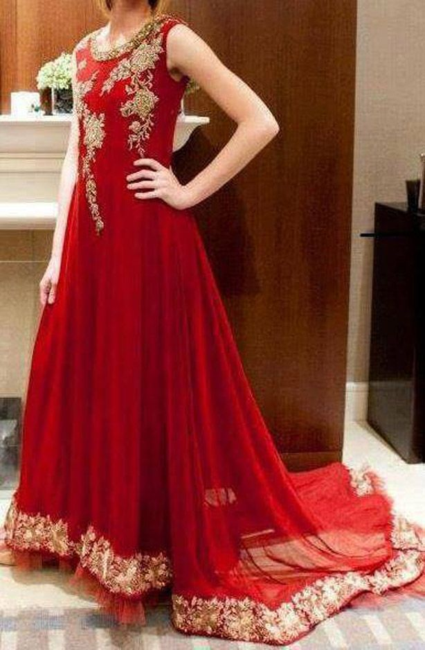 Latest Pakistani Wedding Frocks Designs 2017 Party Dresses Collection - StyleGlow.com