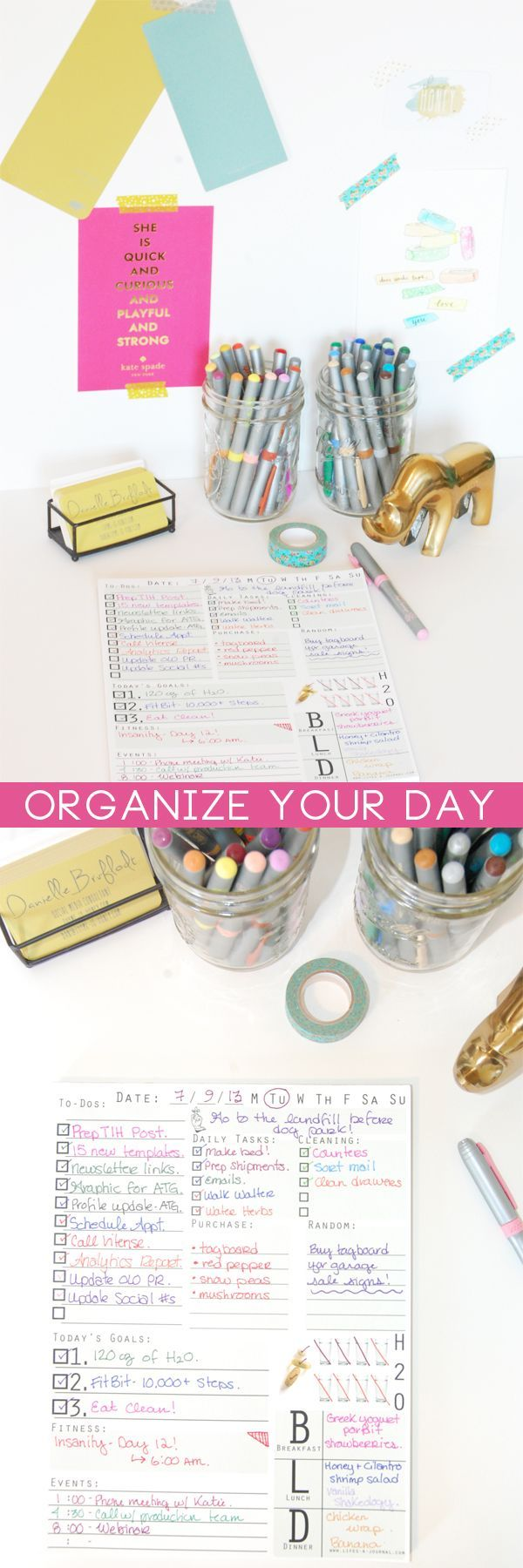 Tips for How to Organize Your Day #repin