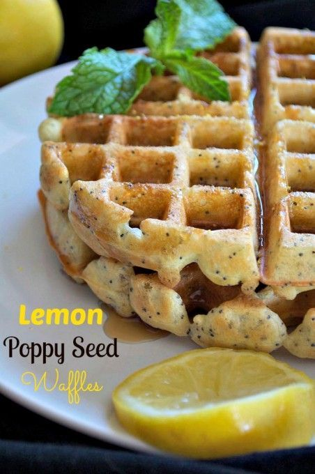 Dairy-Free Lemon Poppy Seed Waffles - the perfect treat for a weekend breakfast or brunch and their dairy-free!: