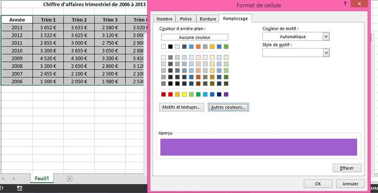 Excel 2010 : colorer automatiquement une ligne sur 2 - Fiche pratique Excel, Informatique & Bureautique
