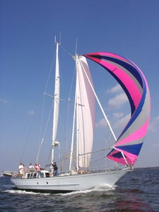 60' sailboat charter out of Solomons Island, MD